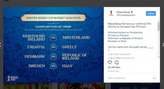 Ini Drawing Play-off Piala Dunia 2018 zona Eropa