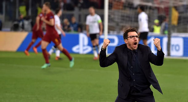 Roma Gagal ke Final, Di Francesco Tetap Bangga