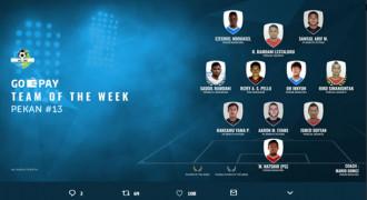 Persib Dominasi Team of The Week Pekan 13