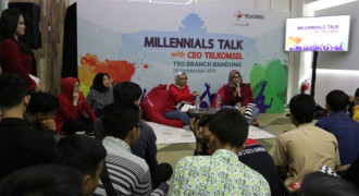 Telkomsel Gelar Acara  Millennials Talk
