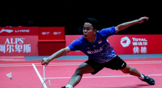 Thailand Open Jilid II: Anthony Ginting Lolos ke 16 Besar
